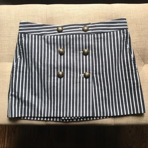 BCBG Maxazria Navy and Gray Striped Mini SZ 0